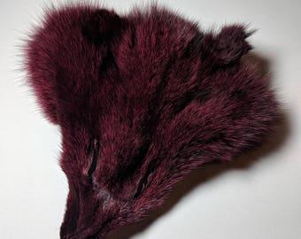 Maroon Fox Face Fur
