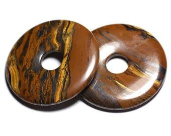 Necklance - large Donut Pi 60mm - 4558550091345 Tiger eye
