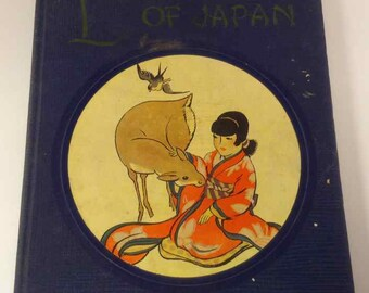 """Vintage Rare Children's Book """"Little Pictures of Japan"""" - Published by The Book House for Children - 1925"""