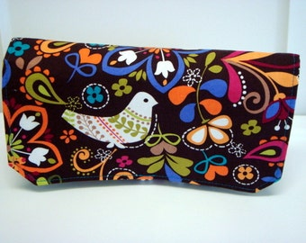 Coupon Organizer Cash Budget Organizer Holder- Attaches to your Shopping Cart  - Birds of Norway - Turquoise Lining