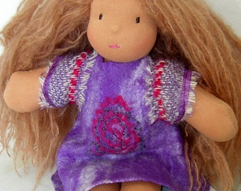 Organic Waldorf doll: Chloé