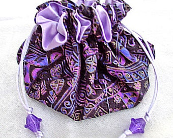 Sewing Pattern PDF Double Drawstring Jewelry Pouch Trinket Pouch