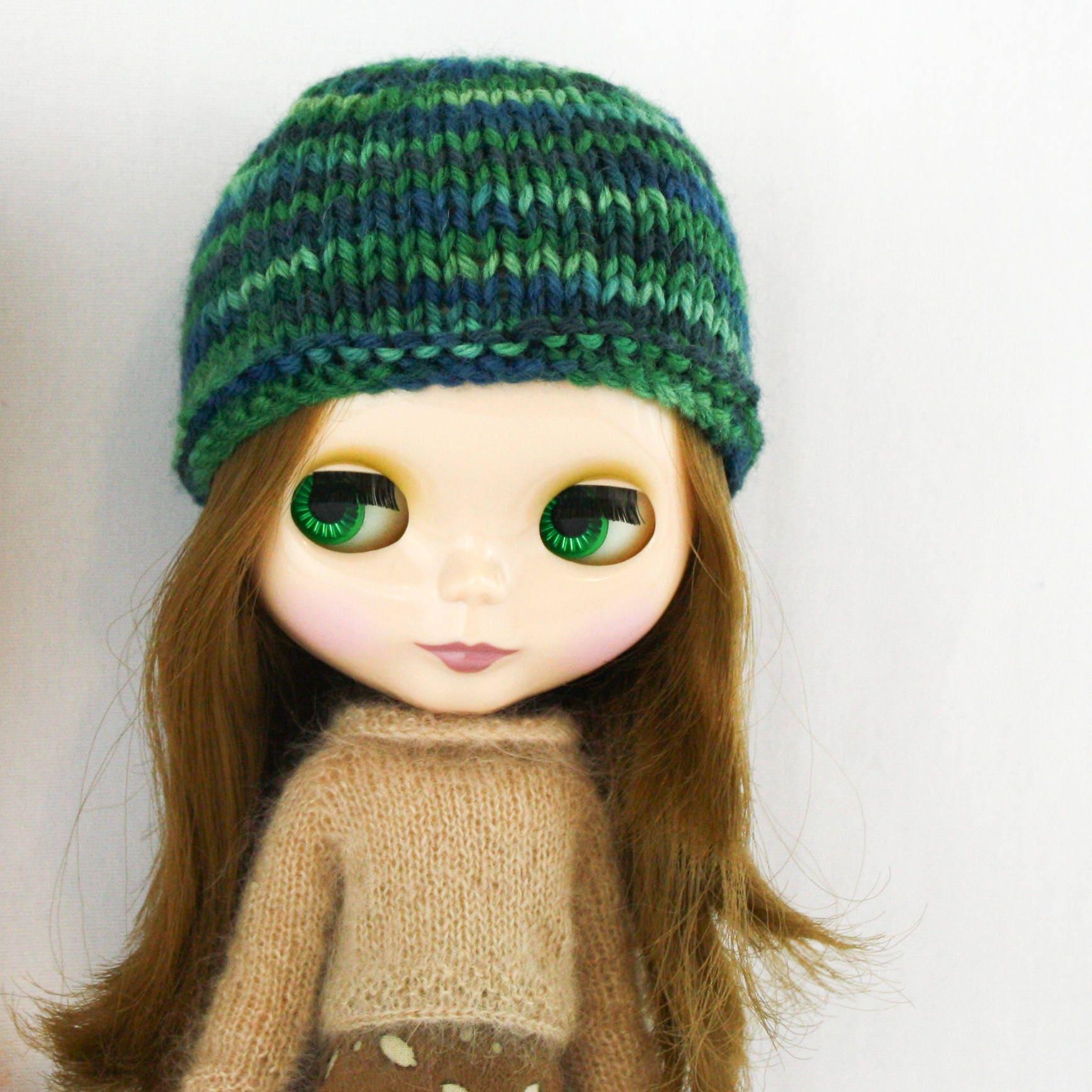 Blythe Nymphadora Hat knitting PATTERN cute skull cap doll