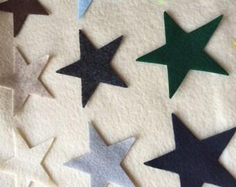 "100 felt stars....3""....you choose colors, die cut felt stars, pre cut felt stars, 3"" felt stars"