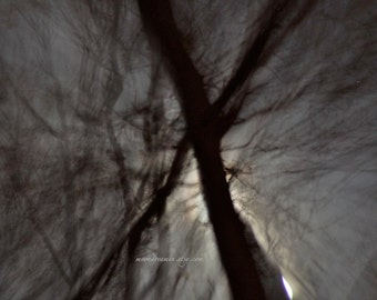 Dark night sky print, Dreamscape no2 Abstract Moon print, silver moonlight, Black silver grey, moonscape, monochrome photography, shadow art