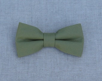 Mens Bow tie, Olive Green Bow tie, Bow Tie for Wedding, Plain Olive Bow Tie, Baby Bow Tie, Children Bow tie, Bow Tie for Groom & Groomsmen