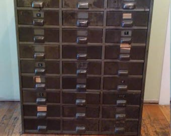 27 Drawer File Cabinet, Shipping is not Free! Contact us for shipping price!