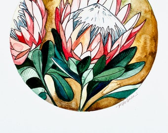 """PRE-ORDER """"King Protea"""" Greeting Card"""