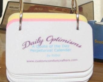 Daily Optimisms a perpetual calendar