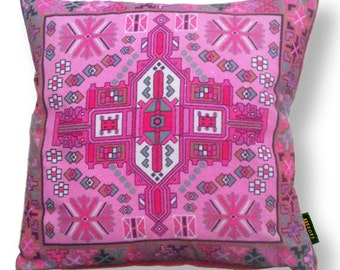 Sofa pillow pink velvet cushion cover ORCHID