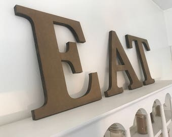 Eat sign rustic kitchen decor kitchen sign shabby chic sign rustic cottage sign rustic home decor wedding gift personalized sign custom sign