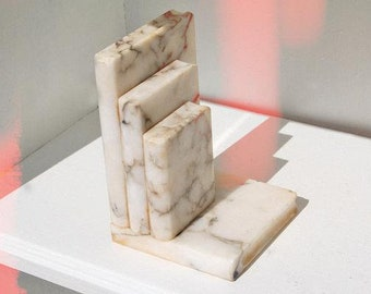 Tiered Marble Book End