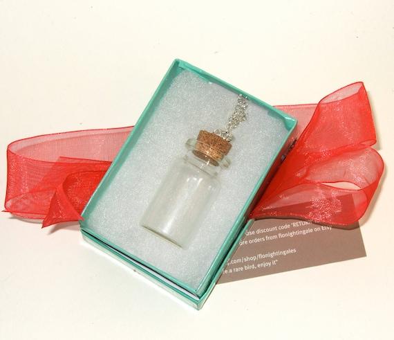 Message In A Bottle, DIY Necklace Kit, Make Your Own, Bottle Pendant, Craft Project, DIY Bottle Necklace, Fill a Bottle, Empty Glass Bottle,