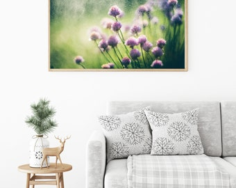 Meadow flowers, Purple flowers Photography, Purple Flower Art, Bedroom decor, Nature photography, Romantic Home Decor, Purple Wall Art Print