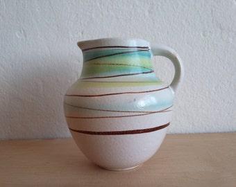 Vintage Haldensleben jug vase ... GDR ... East German Pottery