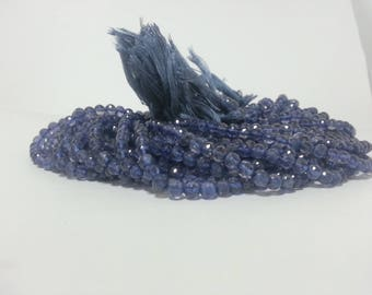 Natural Iolite Faceted Round Beads | Round Iolite Beads | Iolite Ball Bead | Iolite Round Beads | Faceted Iolite Bead | Violet Blue Beads