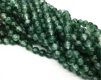 1Full Strand Green Jade Beads,8mm 10mm Wholesale Gemstone For Jewelry Making