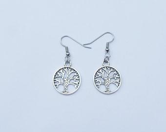 Tree of Life Earrings, Tree Earrings, Silver Tree of Life Earrings, Silver Tree Earrings, Tree of Life Jewelry, Celtic Earrings