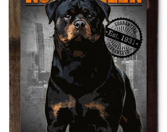 "Rottweiler, Quality Control,  Dog Metal Sign, Wall Decor, Wall Art 16""x24"""
