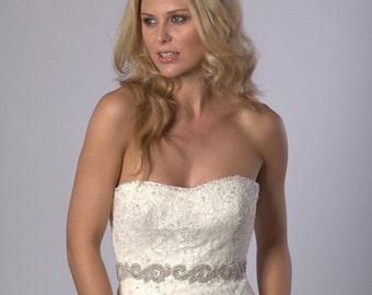 Sparkly wedding dress belt/bridal sash
