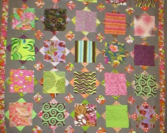 Double Bed Quilt / Full size bed quilt  Handmade  22