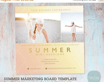 ON SALE Summer Mini Session Photography Template - Photoshop - IH014- Instant Download