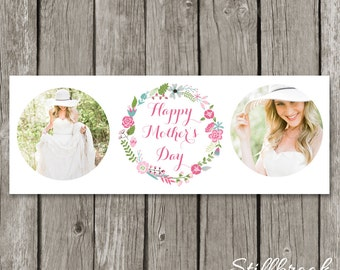 Mother's Day Facebook Timeline Cover Template - Mini Session Spring Floral Photography Marketing Timeline - Flower Cover Photo - TC08