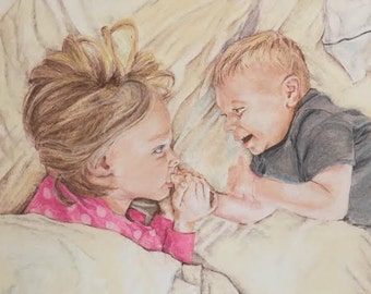 Custom Pastel Portrait (2 or more people) Please do not place your order until I have approved your photo.