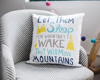 Quote Pillow Cover. Throw Pillow. Decorative Pillow. 16x16. Nursey Decor. Motivational Pillow. Home Decor. Inspired Living.