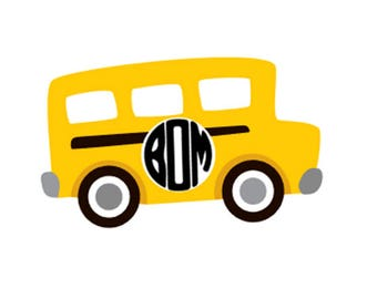 Monogrammed Bus Decal