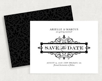 Printable Save the Date, Printed Save the Dates, Postcard, Save the Date Magnet, Save the Date Note Cards, PDF, Calligraphy Save the Date
