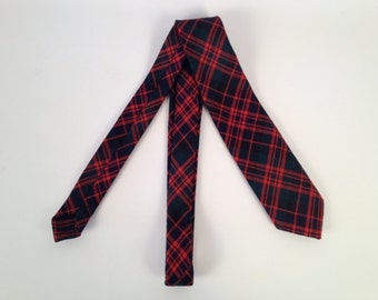 Vintage Tartan Wool Plaid Tie by Gael