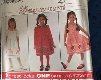Simplicity Pattern # 7283 Girls Design Your Own 9 Designs Dress Jumper