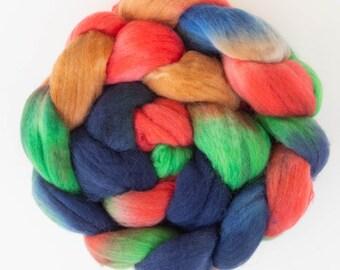 Super washed Merino nylon, hand dyed fiber, fibre, roving, hand dyed Merino,sock fibre, spinning braid, spindling, spinning wool SW Merino,
