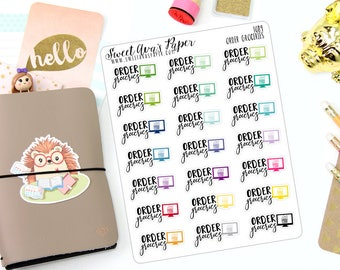 Order Groceries Planner Stickers - Groceries Planner Stickers - Grocery Shopping Stickers - Online Shopping Stickers - 1089