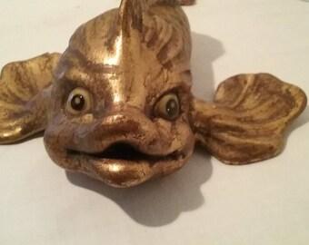 Mid Century Modern Gold Fish - Marked Anthony