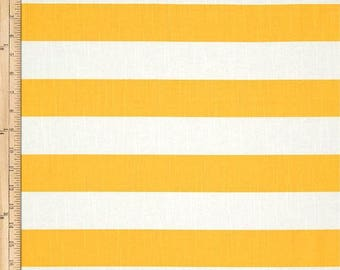 "Yellow and white horizontal stripe, Fabric shower curtain, cotton print, 72"", 84"", 90"", 96"", 108"" custom made"