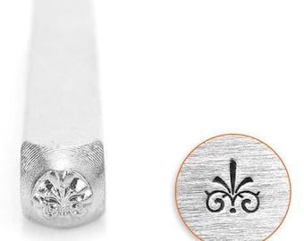 ImpressArt Metal Design Stamp, 3mm Flourish G Design Sterling Jewelry Leather Wood PMC
