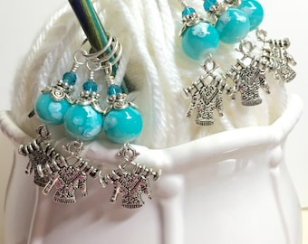 Knit Sweaters Stitch Marker Set- Snag Free Progress Markers- Gift for Knitters