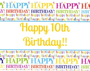 Happy 10th Birthday!! paper placemats