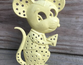 Vintage Metal Mouse Earring Holder