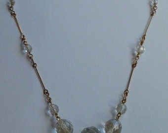 Vintage Glass/Crystal Necklace