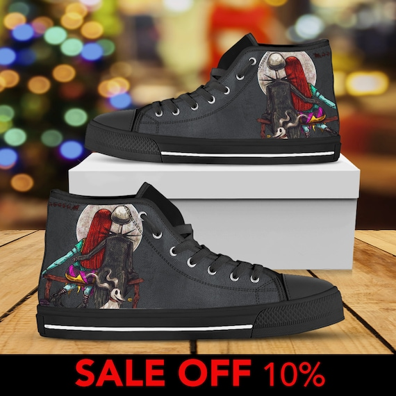 9ca7a053649f halloween sally jack shoes and before christmas converse top christmas  nightmare nightmare shoes skellington custom high
