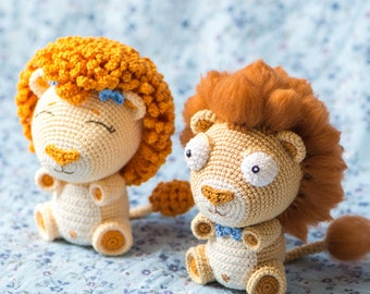 Lion Crochet Pattern Amigurumi : Pattern lewis the lion crochet lion pattern amigurumi
