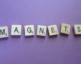 "SCRABBLE Classic Tile Letter Magnets - Complete Set of 100 (+BONUS ""Word Nerd"" Magnet!)"