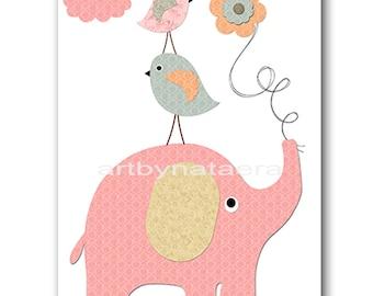 Elephant Nursery Art Printable Wall Art Baby Nursery Decor Printable Decor Baby Boy Nursery Print Digital Print 8x10 11X14 INSTANT DOWNLOAD