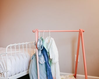Children's Clothing Rack, Clothing Display, Dress Up Rack, Toddler Dress Up, Capsule Wardrobe, Clothing Rack, Clothing Rack