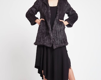 A Night's Sky Coat in Charcoal