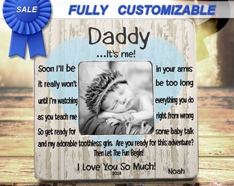 New Dad New Daddy Gift For New Dad Fathers Day From Baby First Fathers Day From Bump First Time Dad Pregnant Dad Gift Daddy Picture Frame