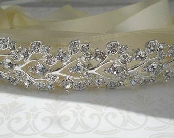 Bridal Headband, Crystal headband, wedding hair accessories, Silver headband headpiece, bridal tiara, Bridal Hair Accessories, Tiara